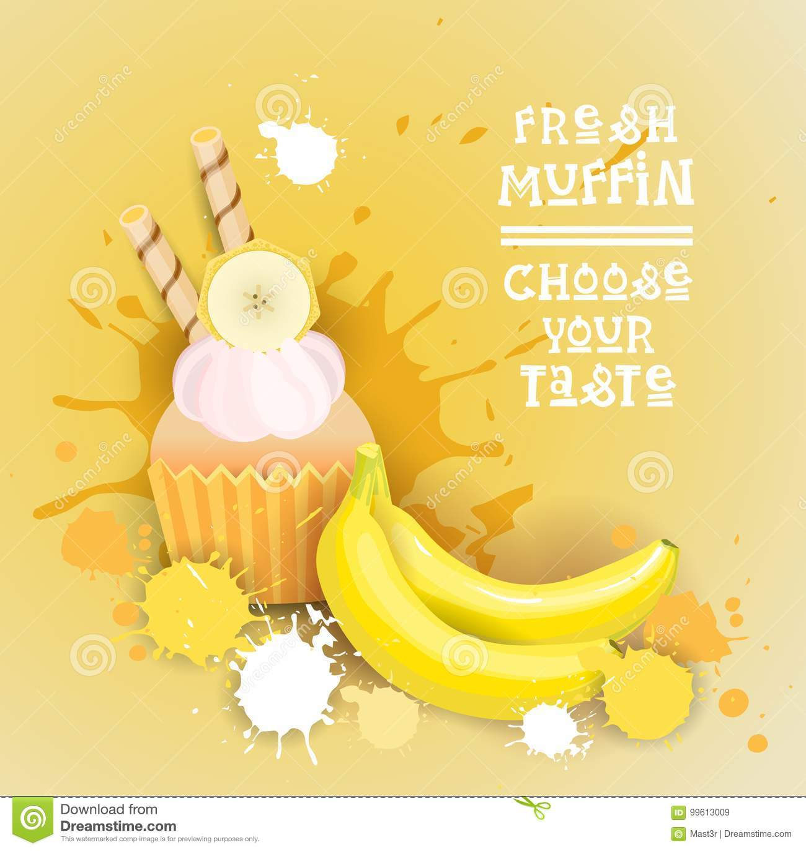 Fresh Muffin Choose Your Taste Logo Cake Sweet Beautiful Cupcake Dessert Delicious Food