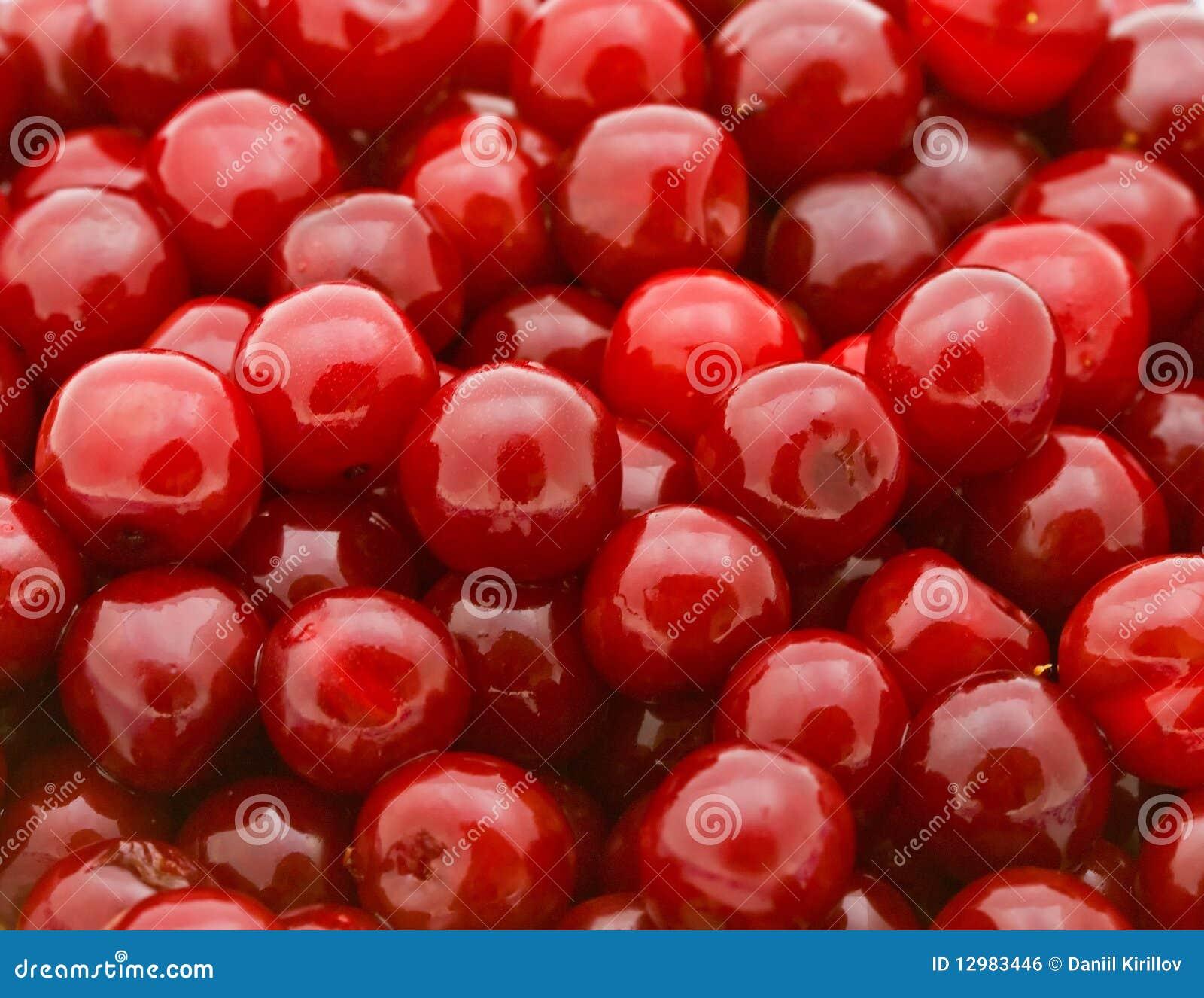 Fresh Natural Cherry Background Stock Photo - Image: 12983446