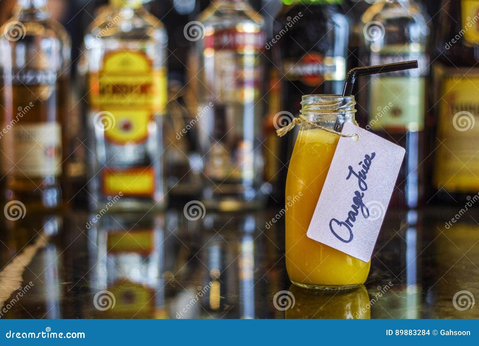 Tremendous Fresh Orange Juice On Bar Table Stock Photo Image Of Food Download Free Architecture Designs Intelgarnamadebymaigaardcom