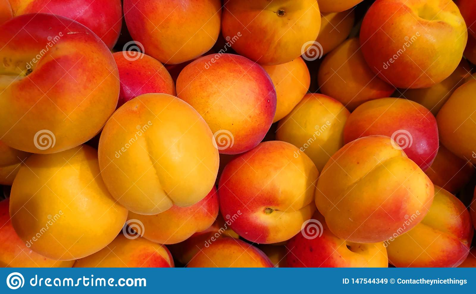 Apricots on the market