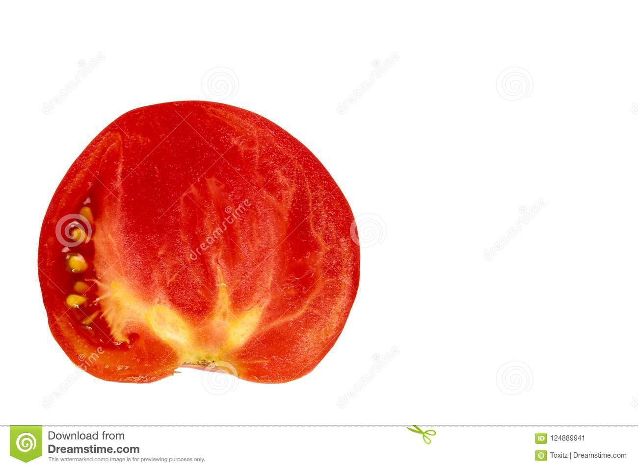 fresh organic red tomato isolated on the white background copy