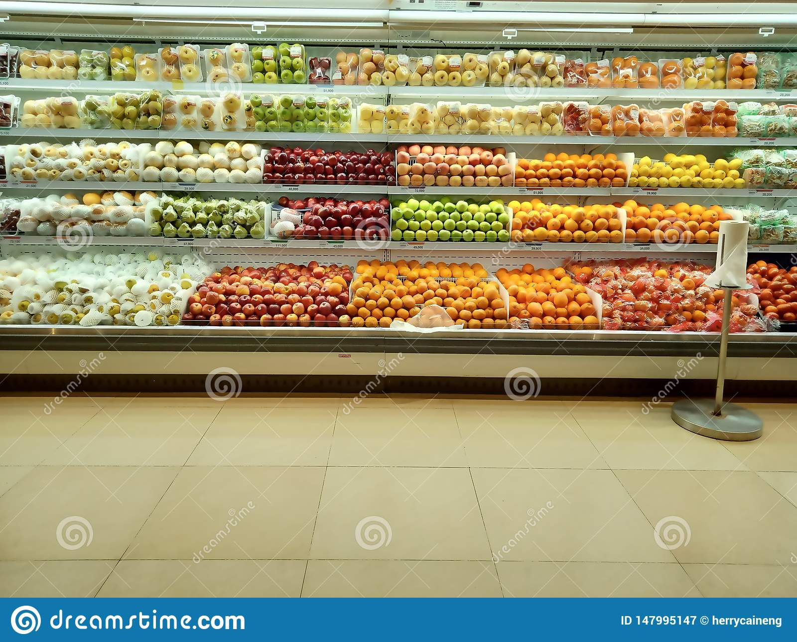 Fresh organic Vegetables and fruits on shelf in supermarket.Healthy food concept. Vitamins and minerals. supermarket product