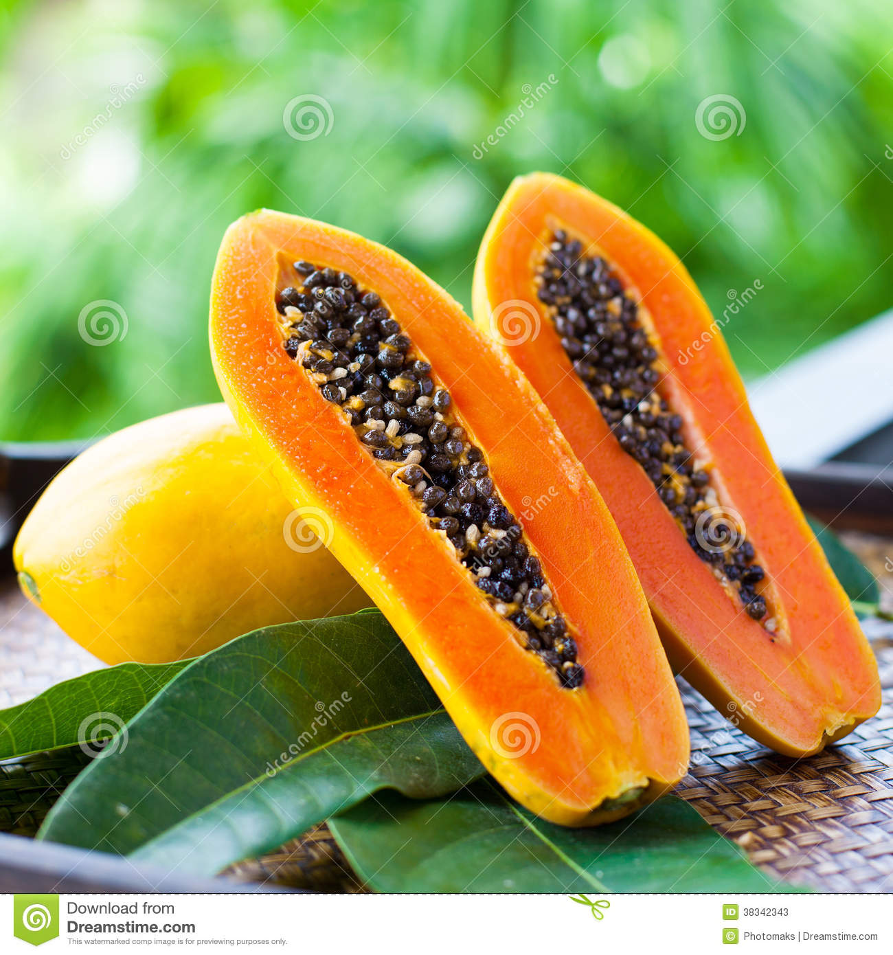 fresh papaya stock photos image 38342343