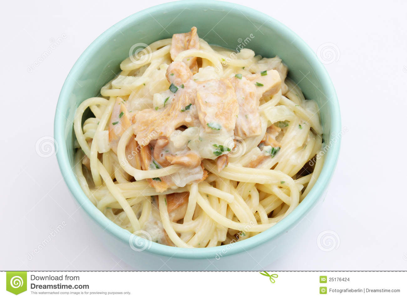 Stock Images: Fresh pasta with mushrooms