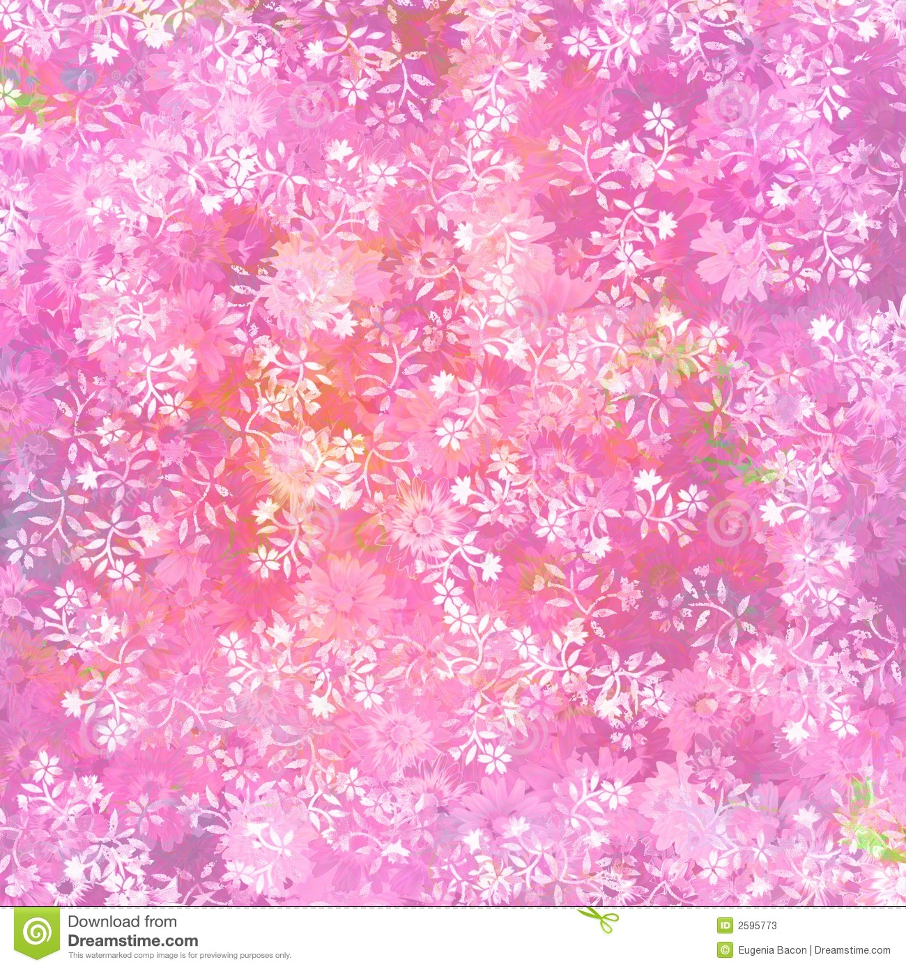 Fresh pink floral background stock photos image 2595773 for Bright pink wallpaper uk