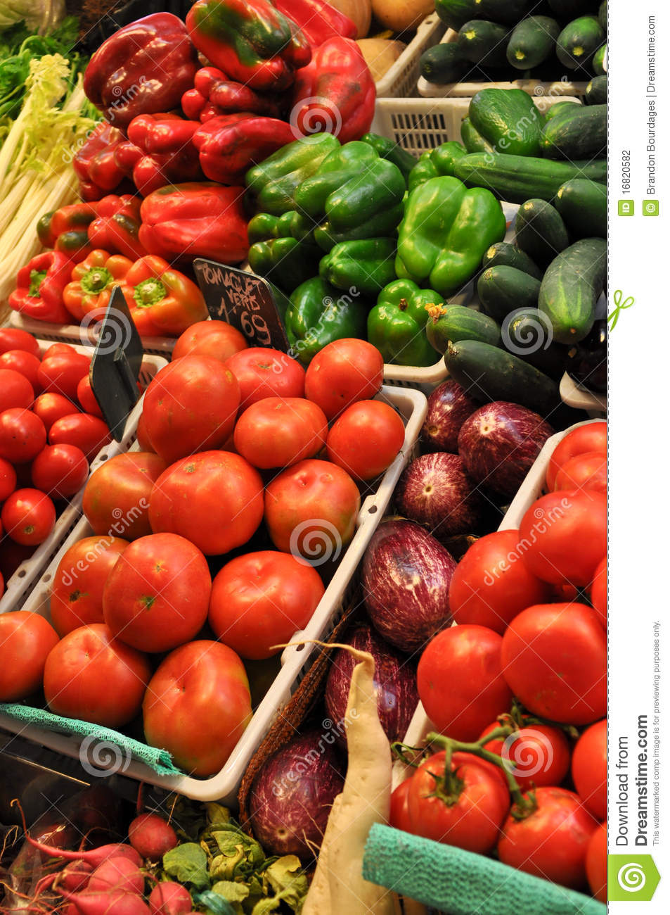 Fresh Produce For Sale at Market