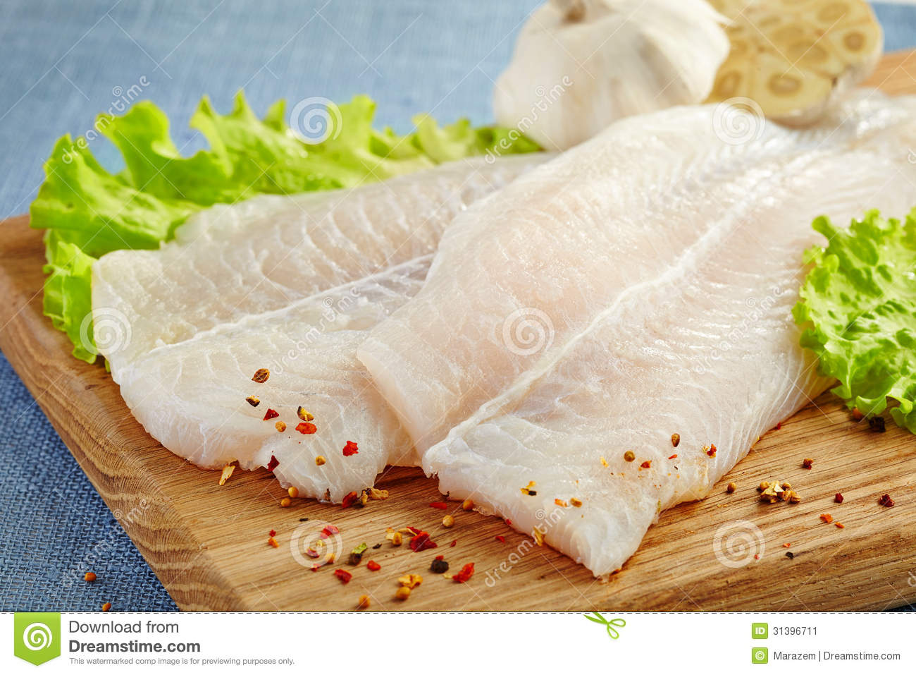 Fresh raw fish fillet stock image image 31396711 for Fish fillet board