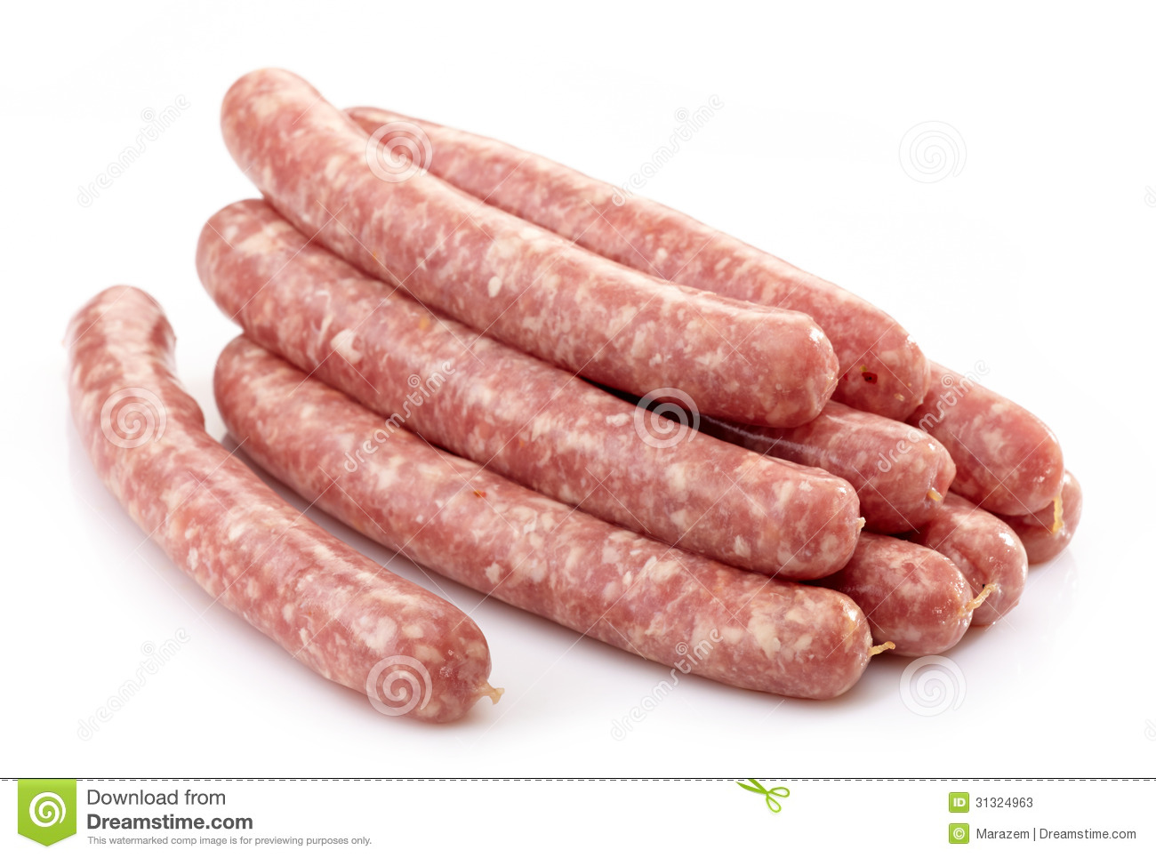 Fresh Raw Meat Sausages Stock Photos - Image: 31324963
