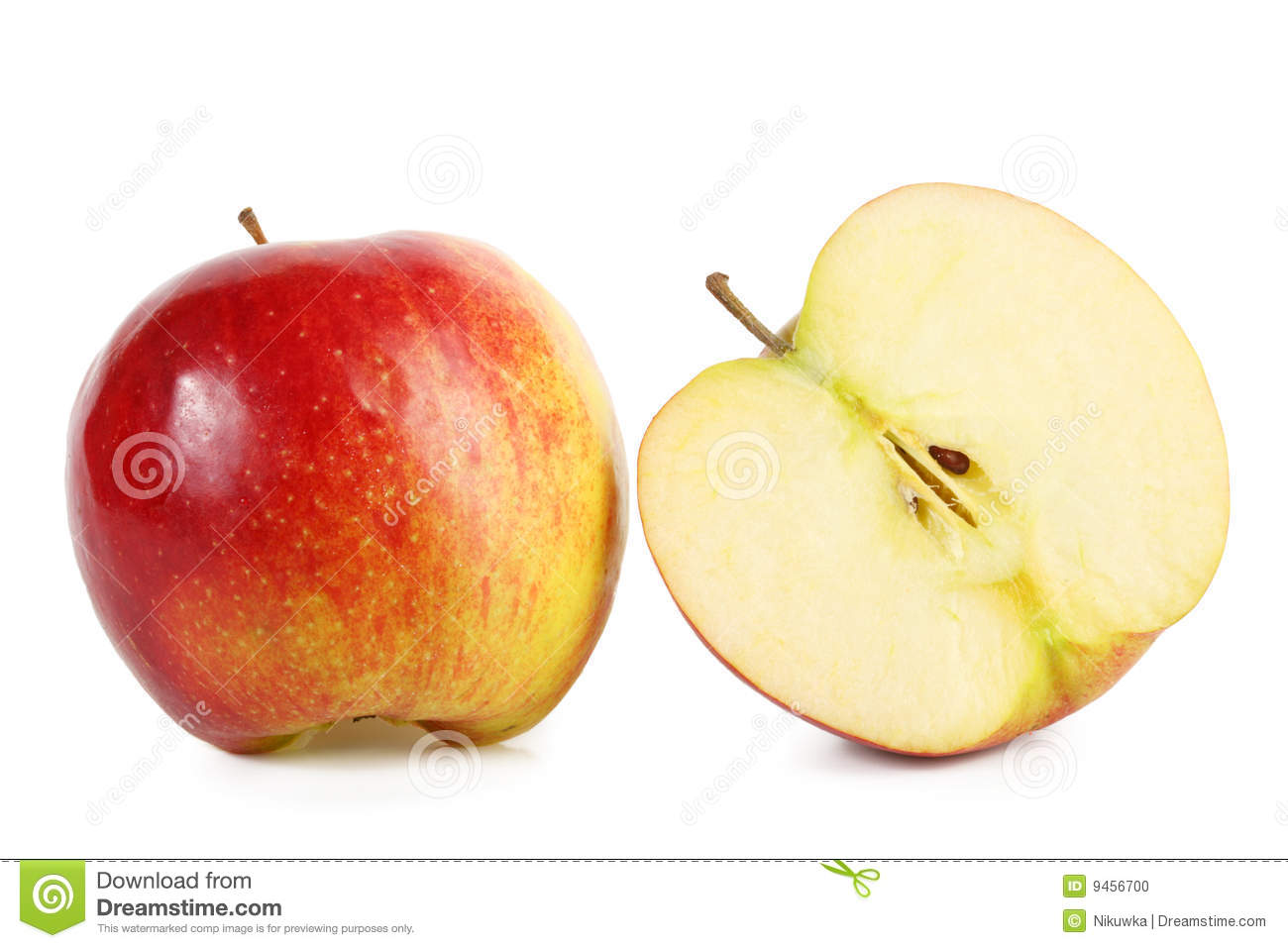 red apple slice. royalty-free stock photo. download fresh red apple with slice