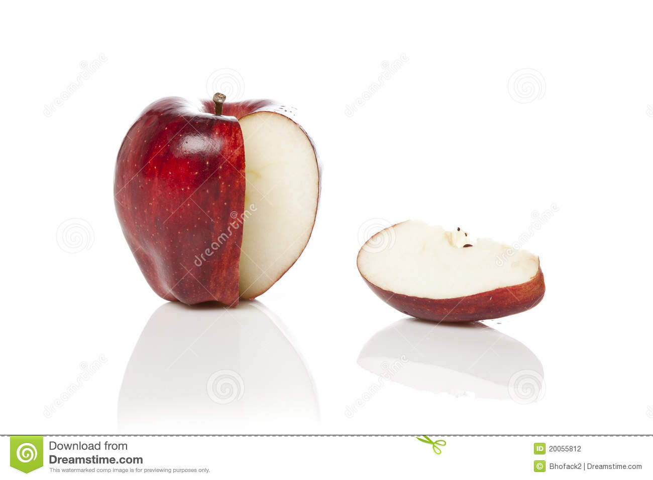 red apple slice. royalty-free stock photo. download a fresh red apple with slice d