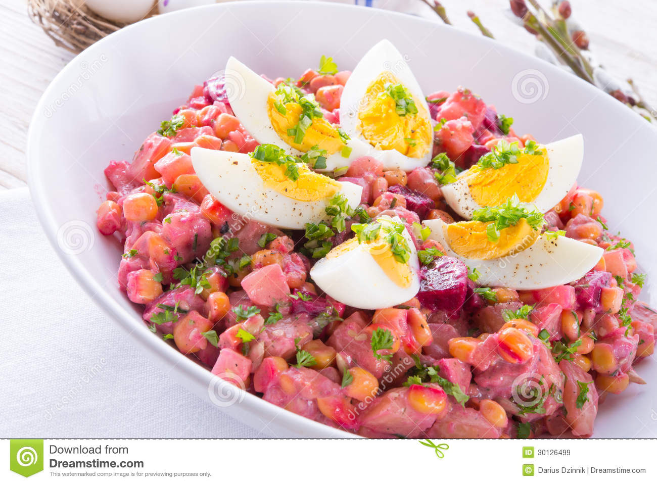 Red Beet Salad With Egg Royalty Free Stock Images - Image: 30126499