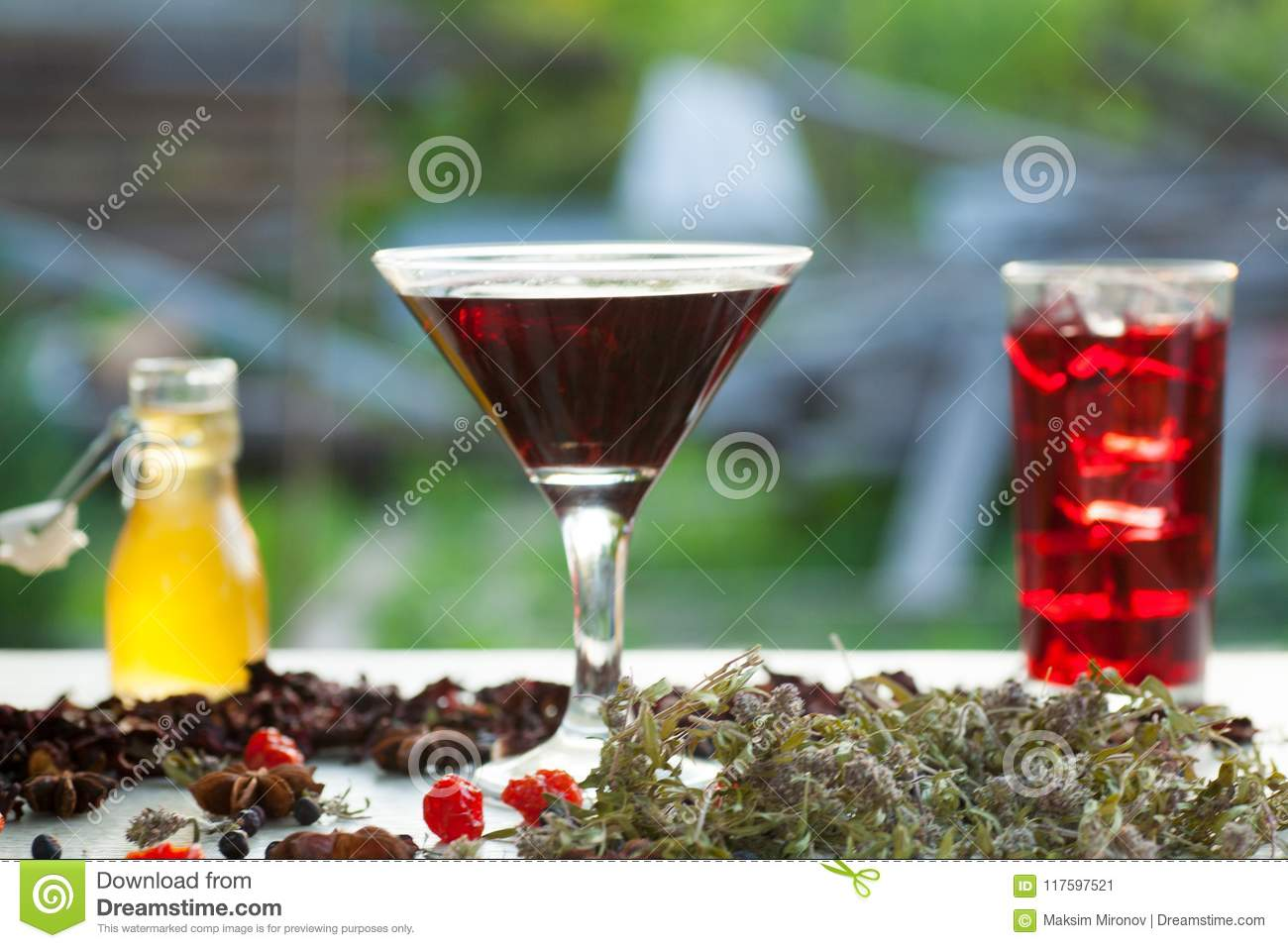 Red Hot Hibiscus Tea In A Glass Mug Stock Image Image Of Morning