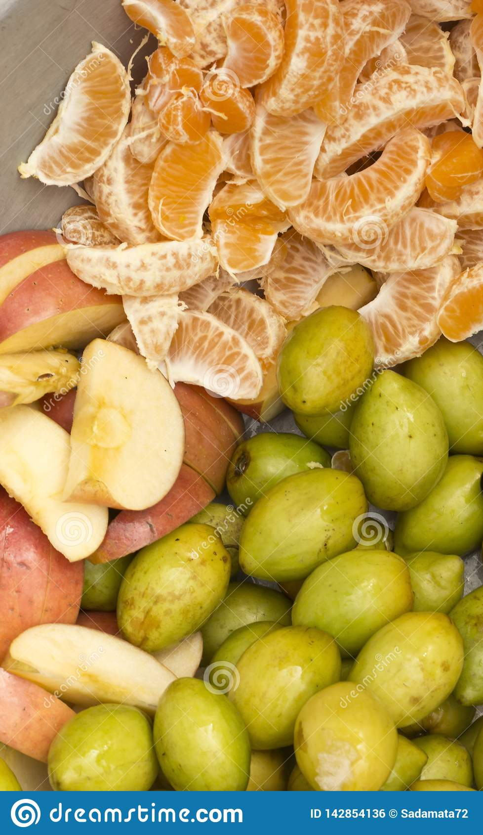 Natural Fresh mix fruits