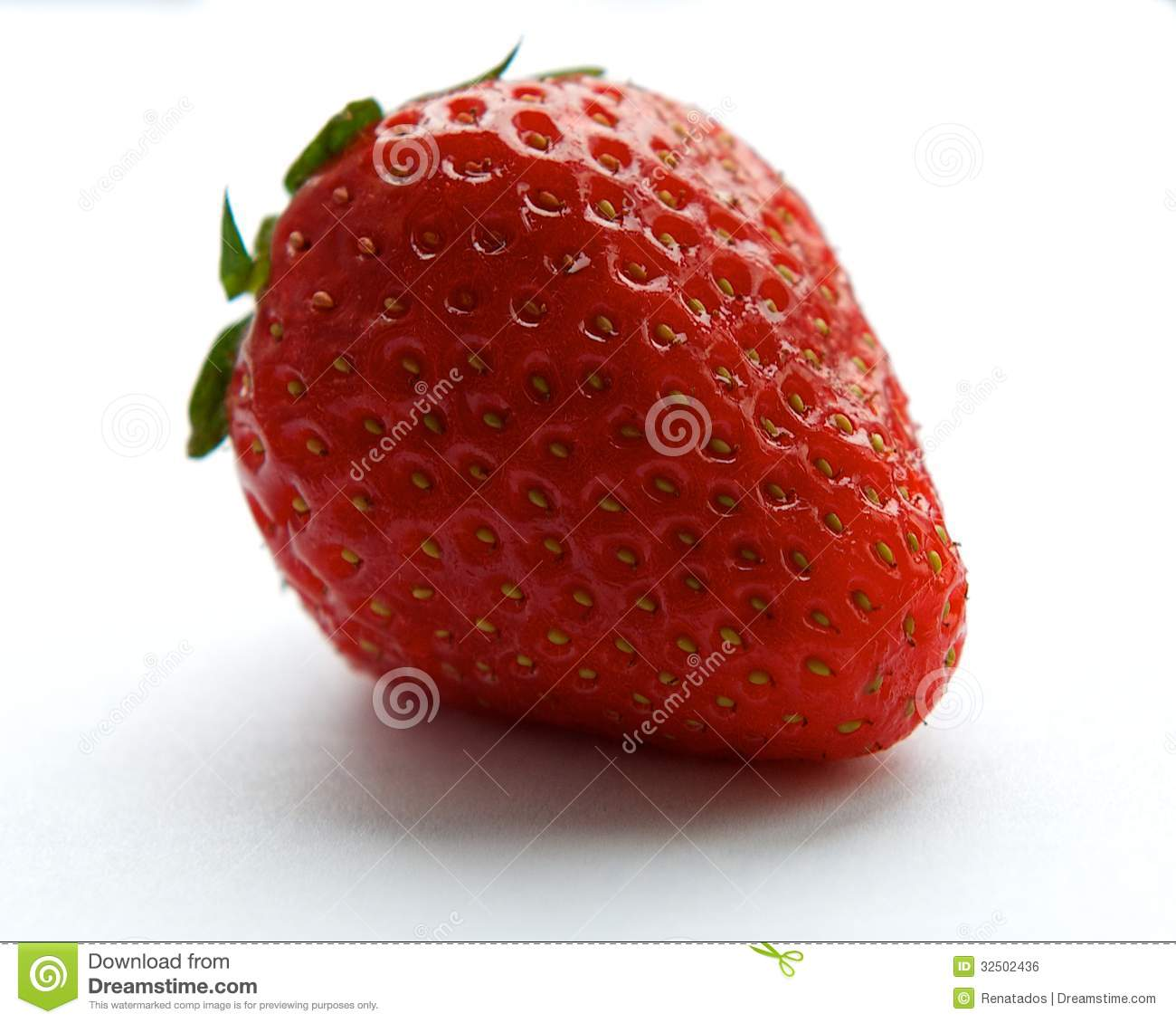 Fresh red one strawberry isolated on white background, fresh fruits, summer berry, red berry, strawberry