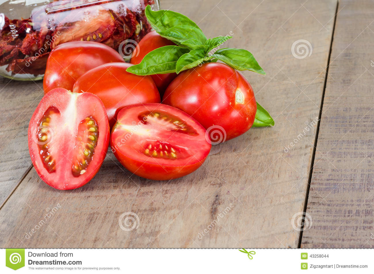 Fresh Red Paste Tomatoes With Jar Stock Photo - Image ...