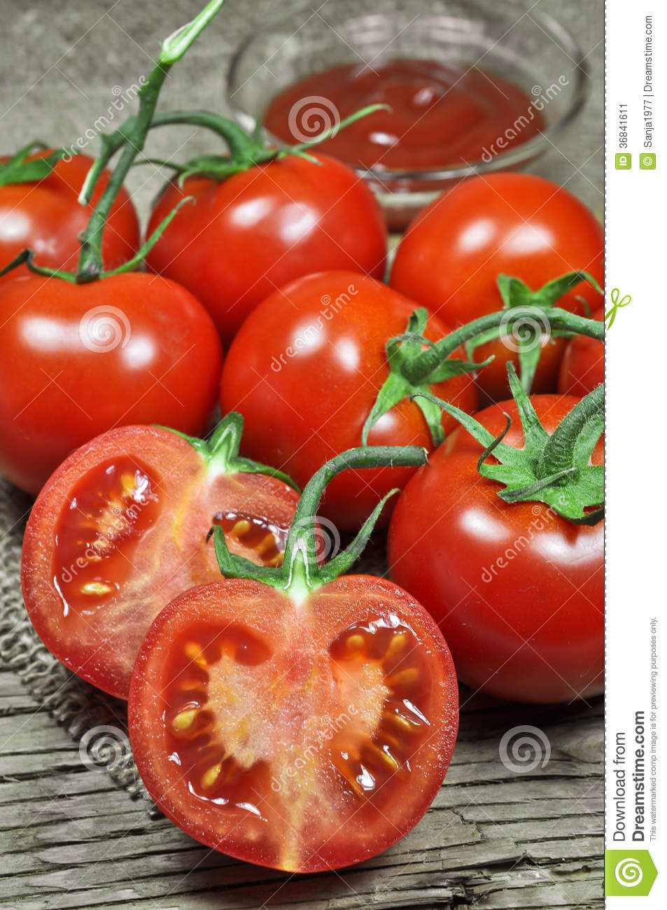 Fresh Red Tomatoes And Ketchup Stock Image - Image: 36841611