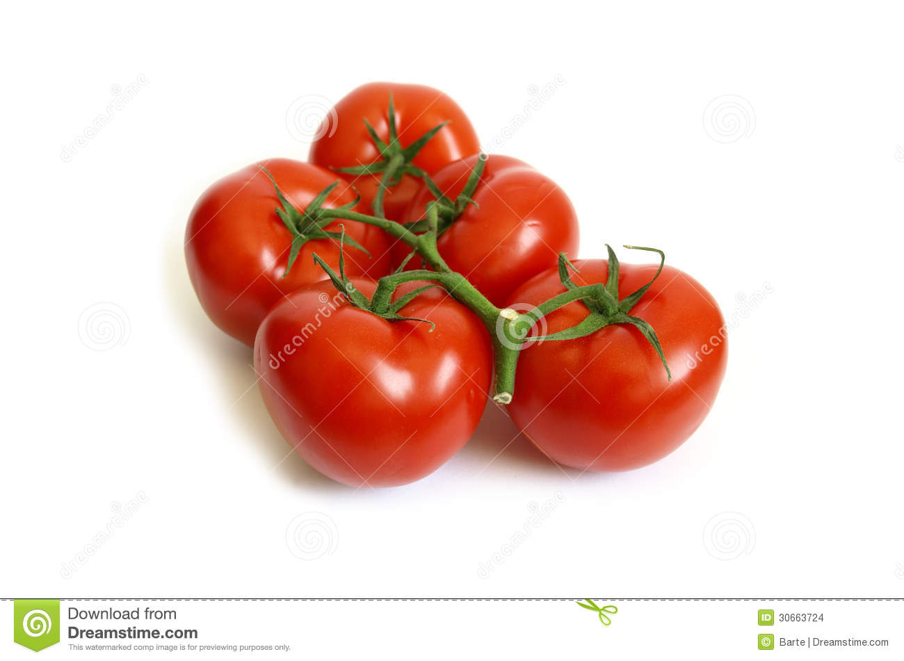 Fresh Red Tomatoes Stock Images - Image: 30663724