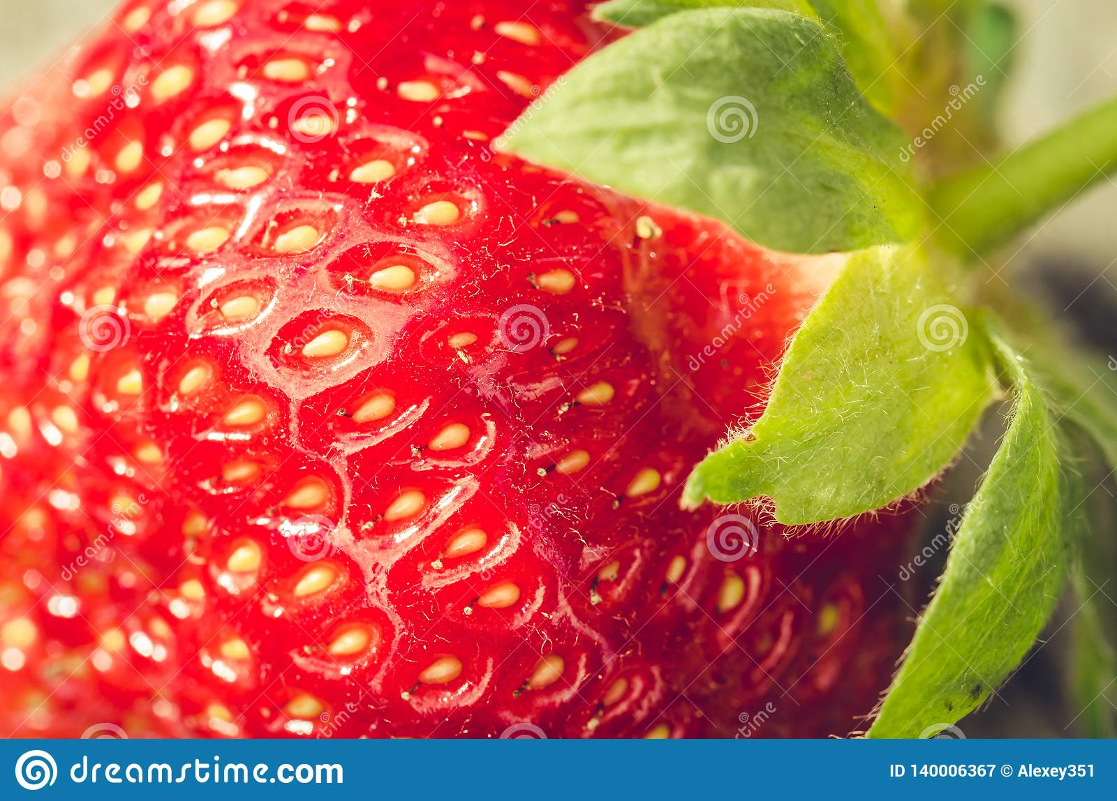 fresh ripe juicy strawberry close up /fresh ripe juicy strawberry close up. Dessert. Gourmet food