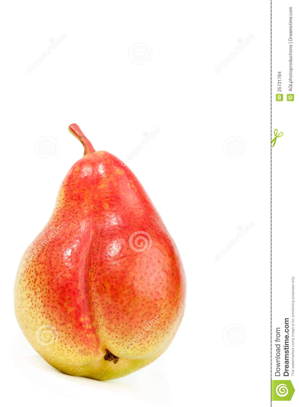 Fresh ripe pear on white
