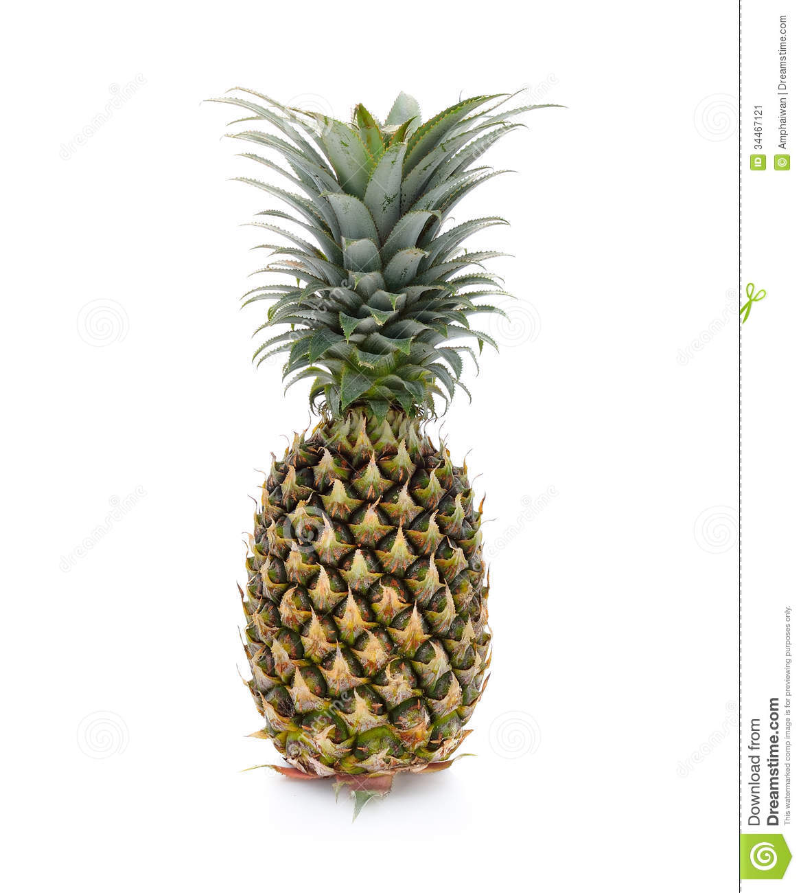 how to tell if a pineapple is ripe by color