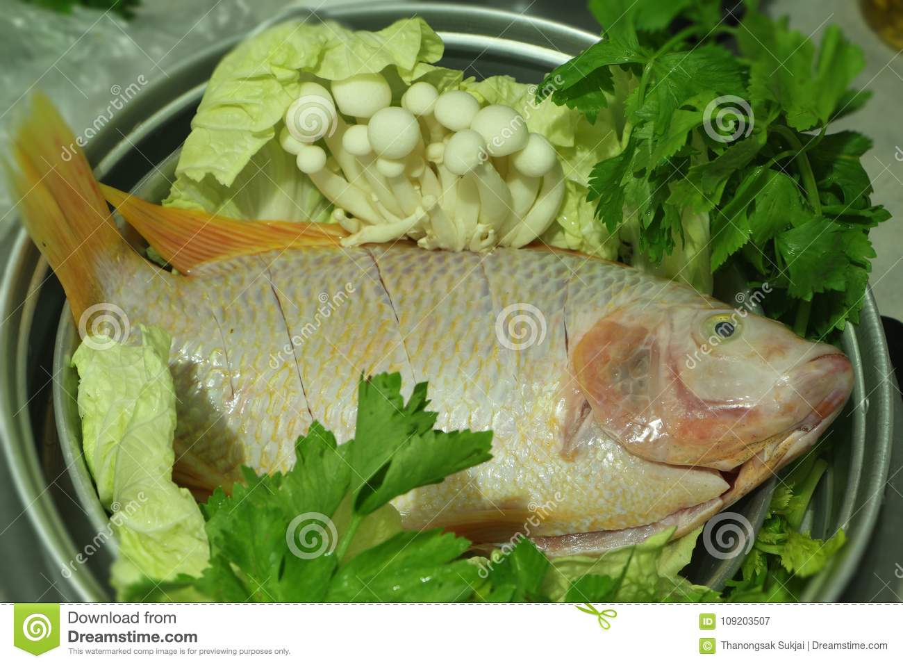 Fresh Ruby Fish With Red Color. Stock Image - Image of brunch, meal ...