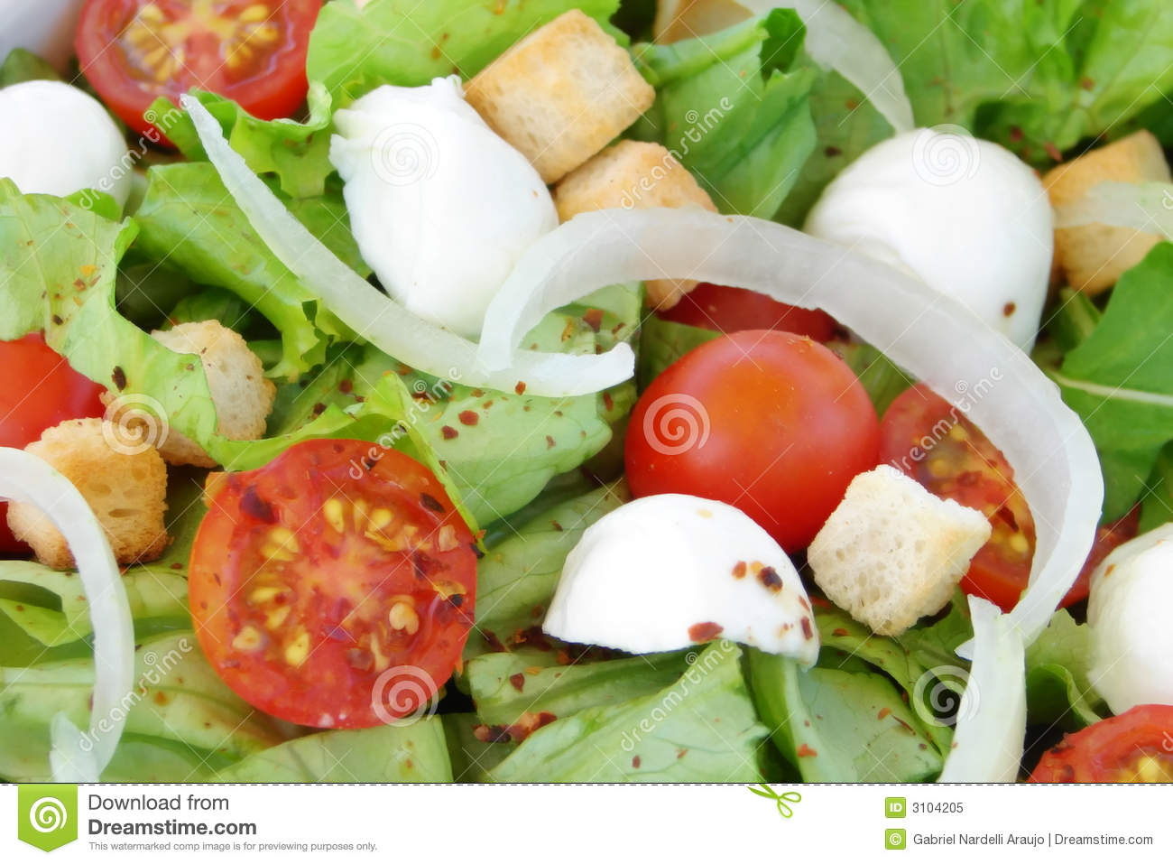 Fresh salad close-up
