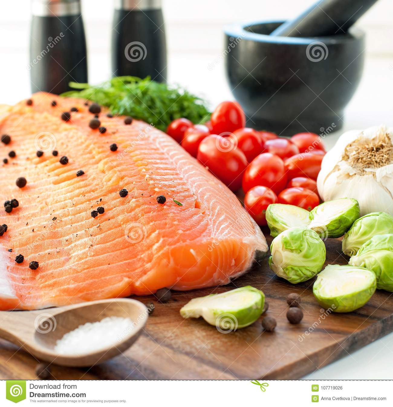 Fresh Salmon With Vegetables Ready To Eat Ready To Cook Squa
