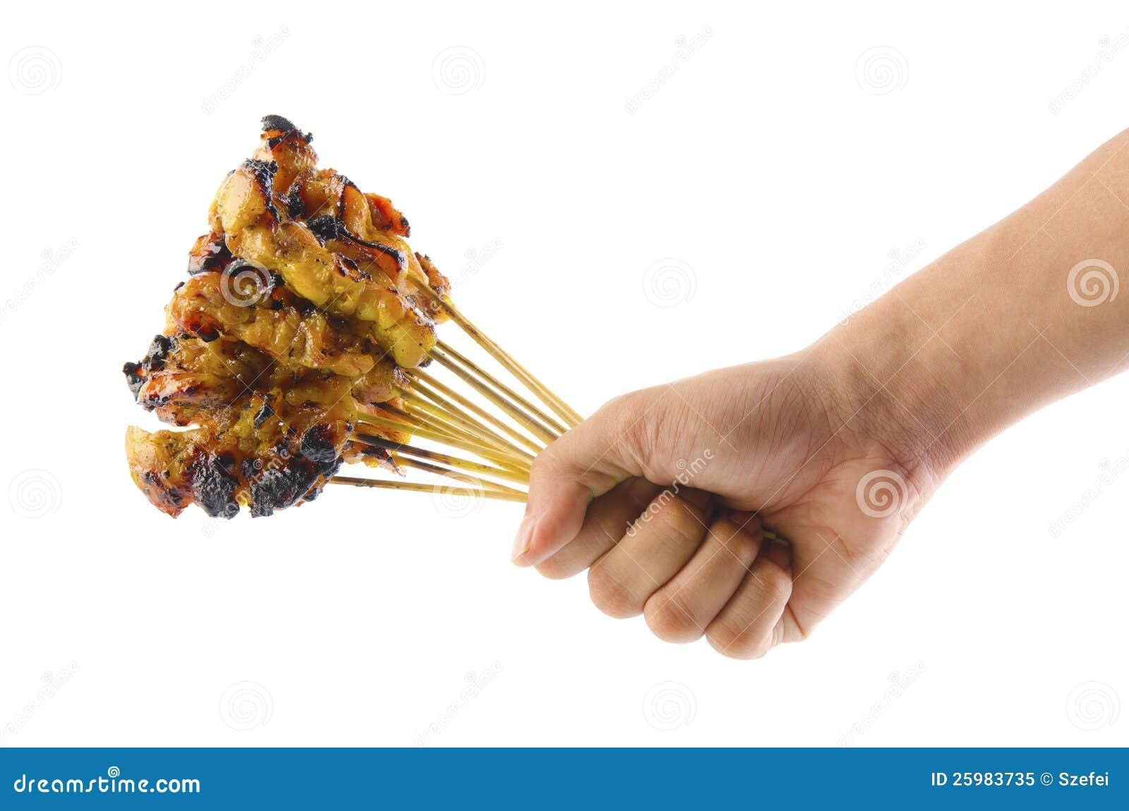 Fresh satay chicken