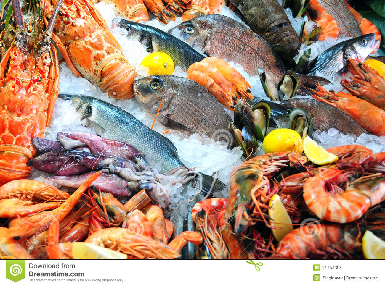 Fresh seafood stock photo image of shrimp diet variety for Max fish menu
