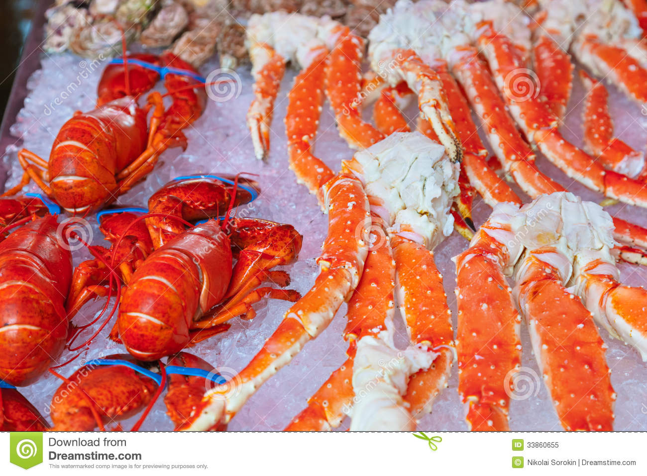 Fresh seafood background stock image image of claw for Fish and seafood