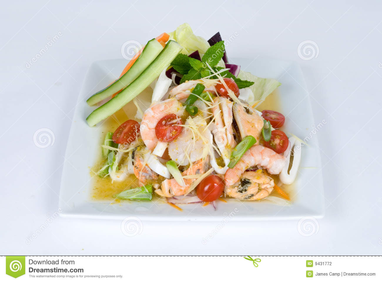 Fresh Shrimp Salad Stock Photography - Image: 9431772