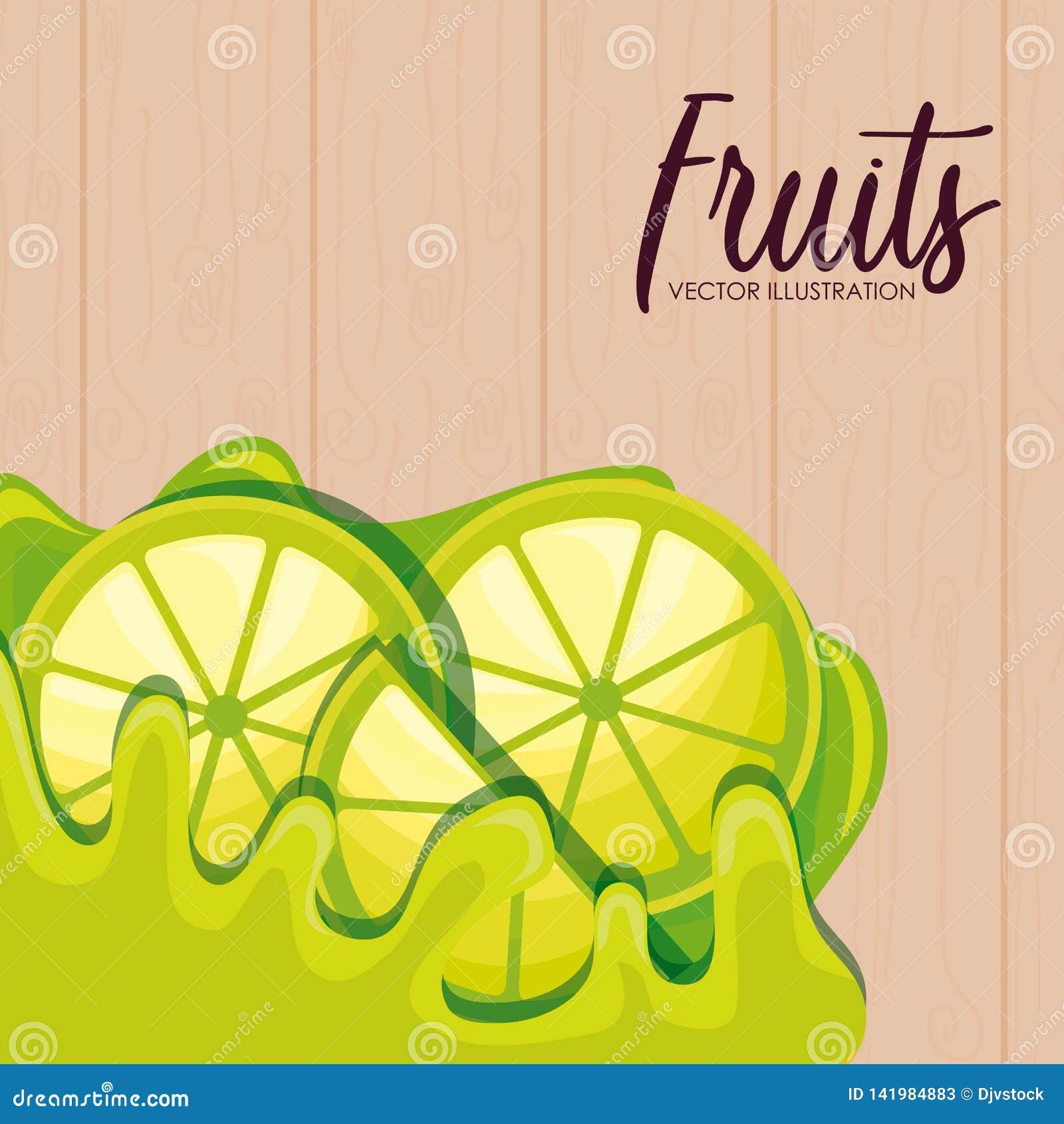 Fresh sliced lemon fruits