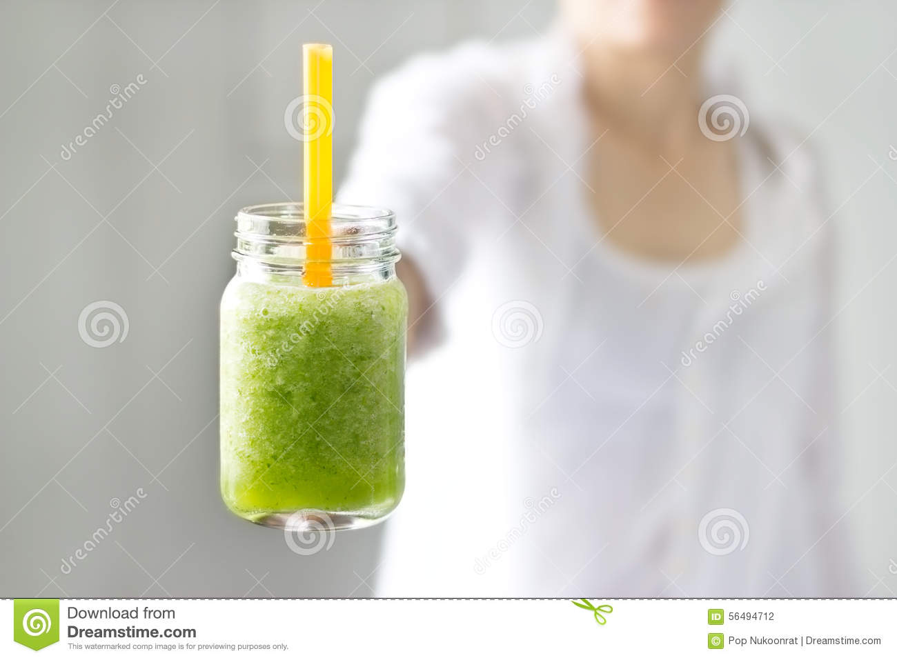 Squishy Mushy Smoothie : Fresh Smoothie Detox Vegetable Lettuce And Cucumber In Hand On The Nature Background Stock Photo ...