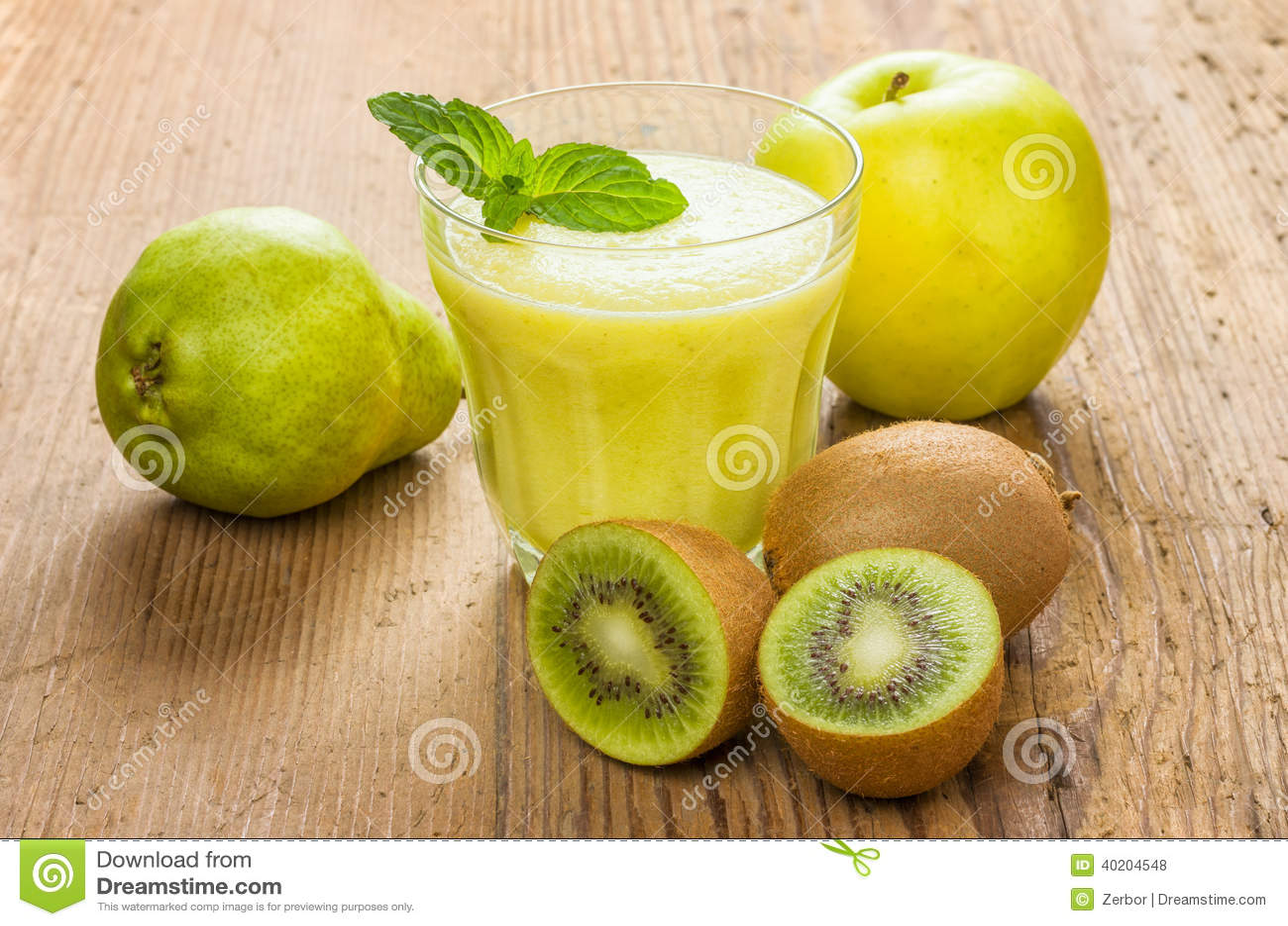 smoothie detox pomme kiwi)