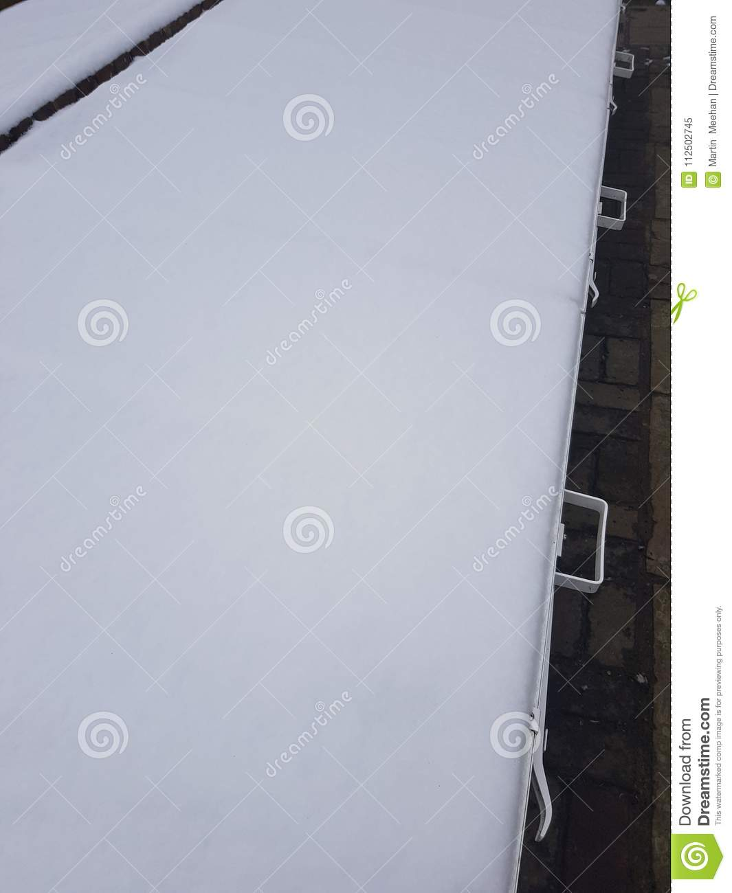 Snow Covered Garden Cloche. Stock Image - Image of covered, spring ...