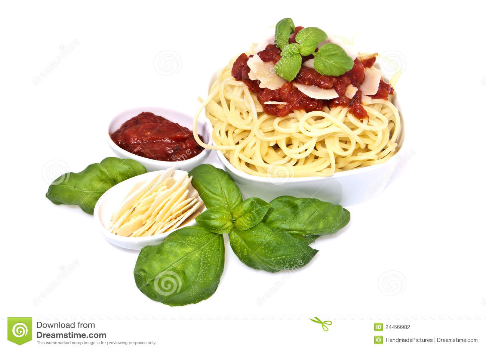 "Spaghetti"" With Tomato Sauce And Parmesan Cheese Recipe — Dishmaps"