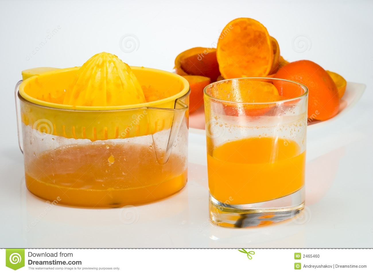 Orange Juicer For Orange Juice ~ Fresh squeezed orange juice stock photo image