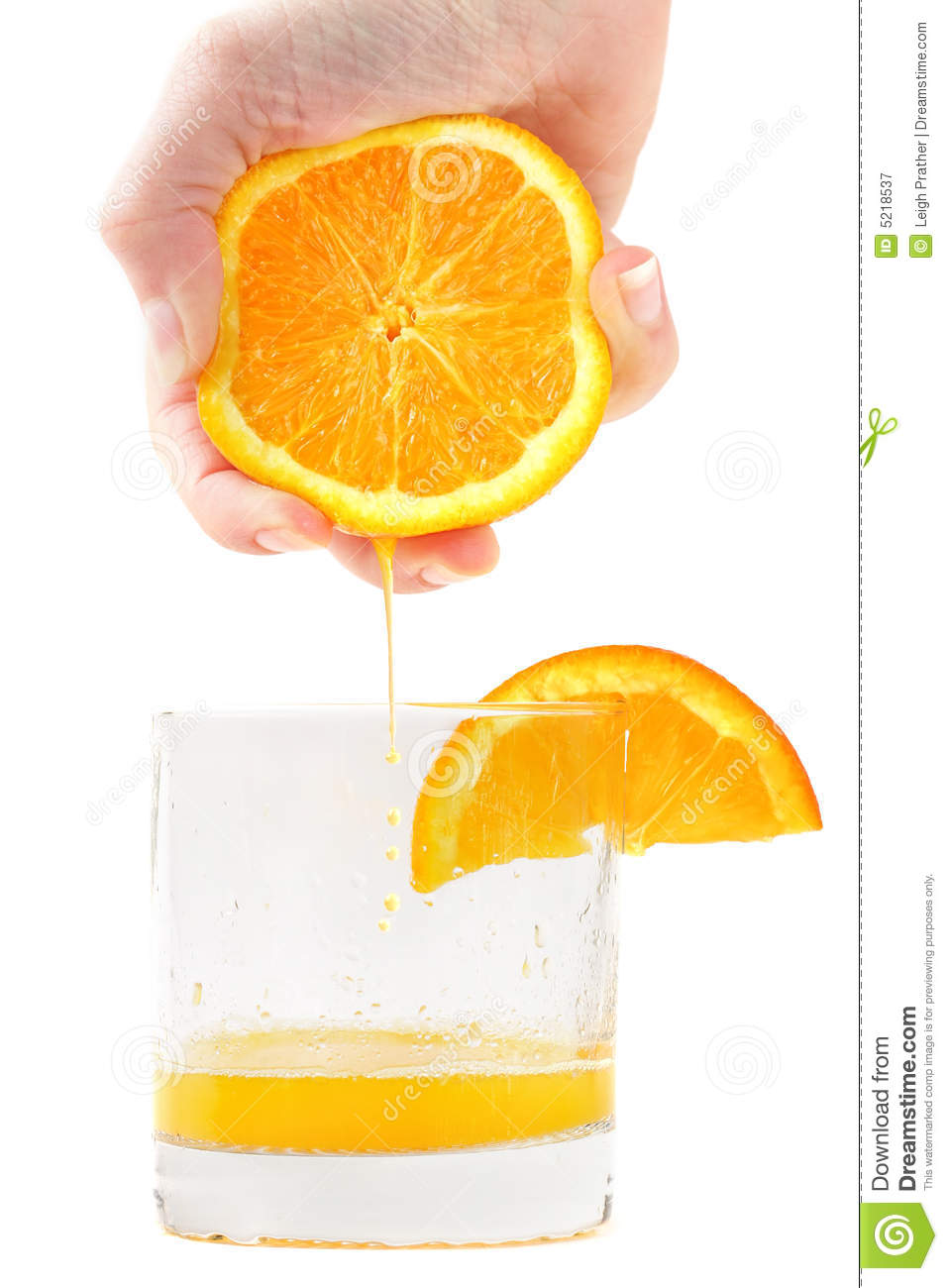 Fresh Squeezed Orange Juice Royalty Free Stock Photography