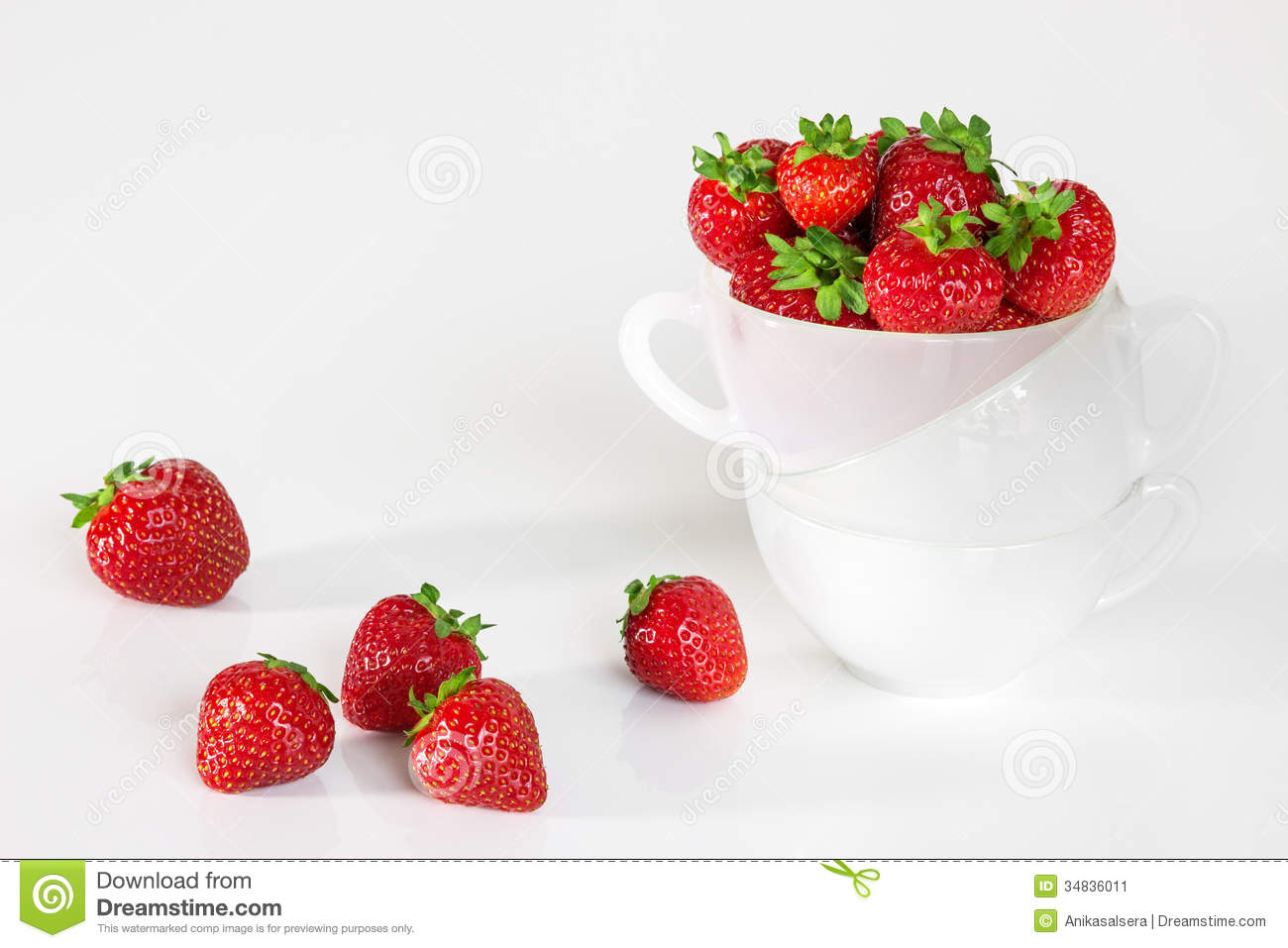 Fresh strawberries in a cup