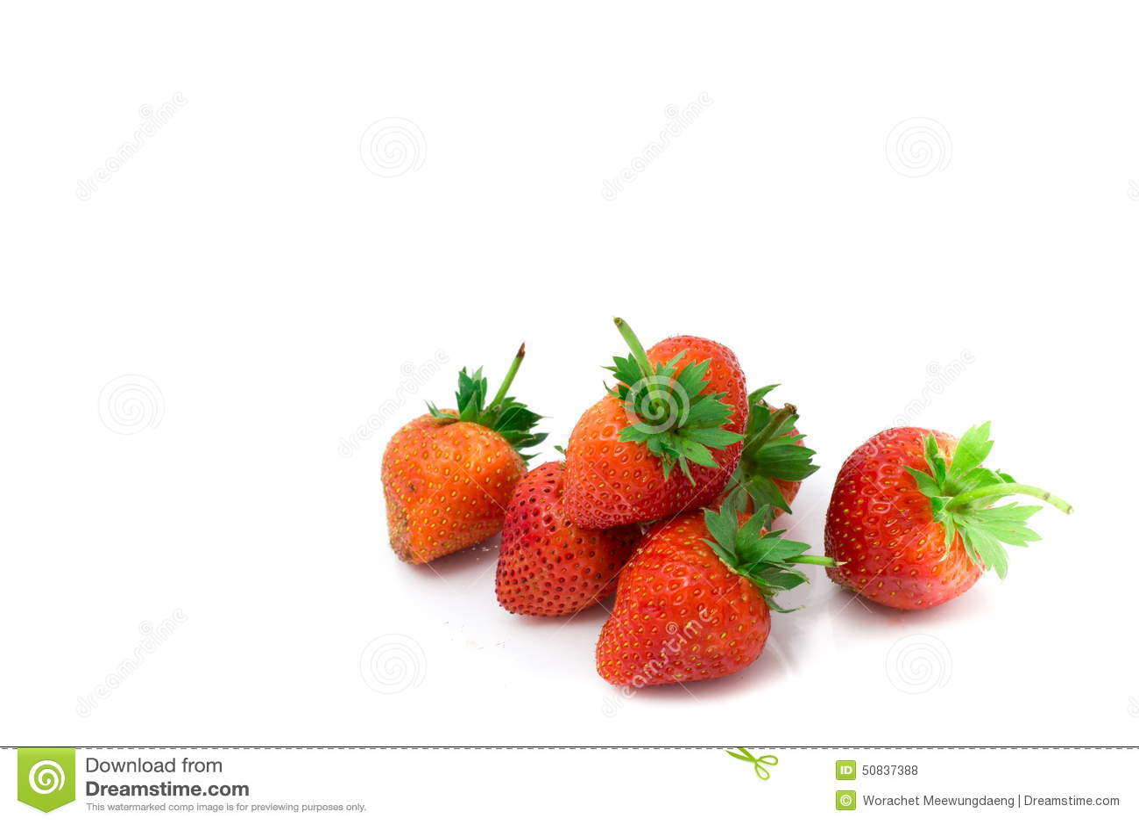 Fresh strawberry on white background.