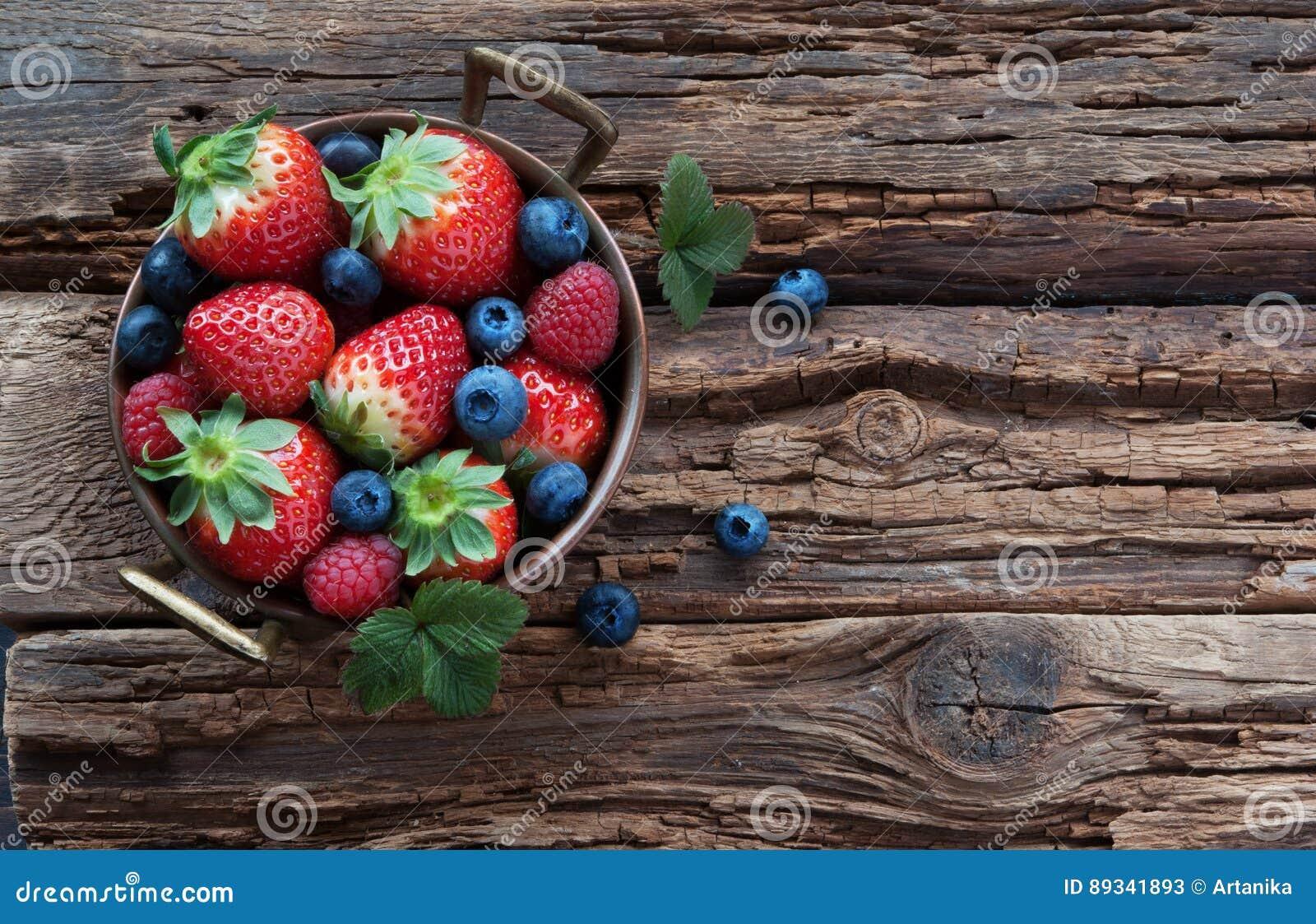 Fresh summer berries in bowl