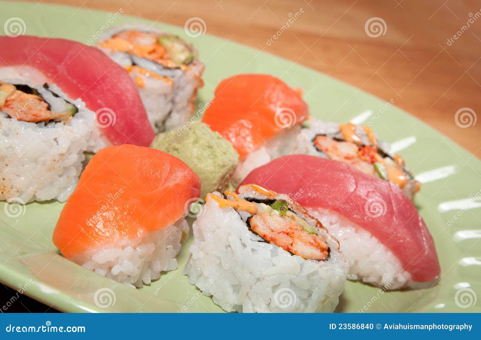 Sashimi With Rice Fresh sashimi over rice stock photography - image ...