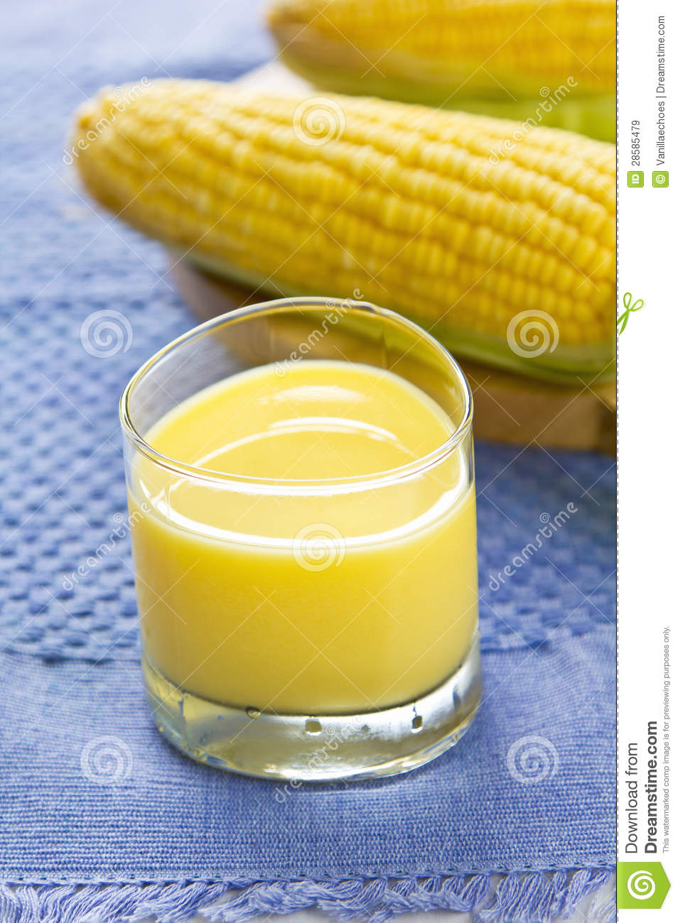 Fresh Sweet Corn Juice Stock Image Image Of Food Green
