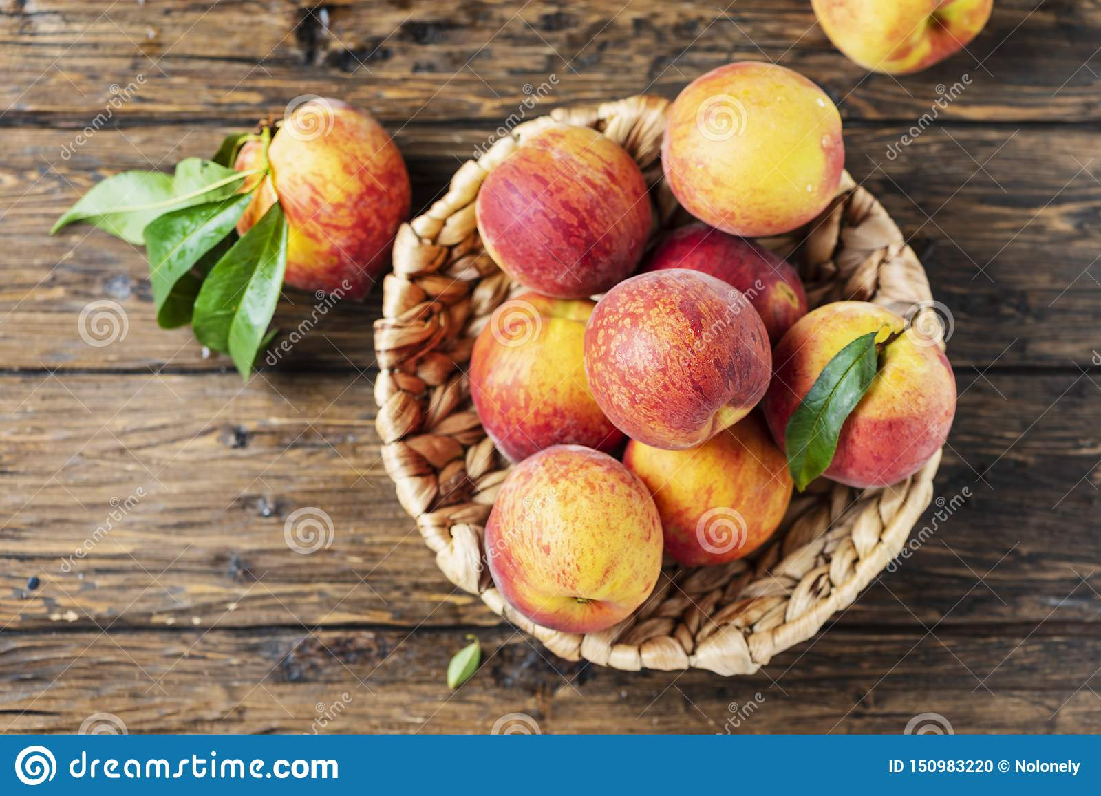 Fresh sweet peaches
