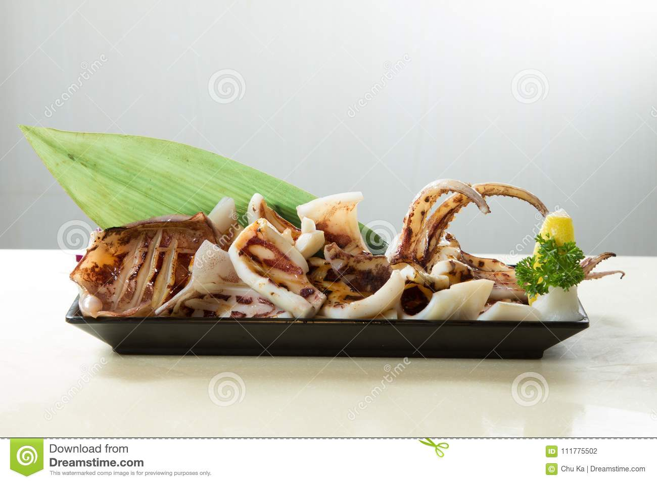 Fresh and tasty seafood cuisine