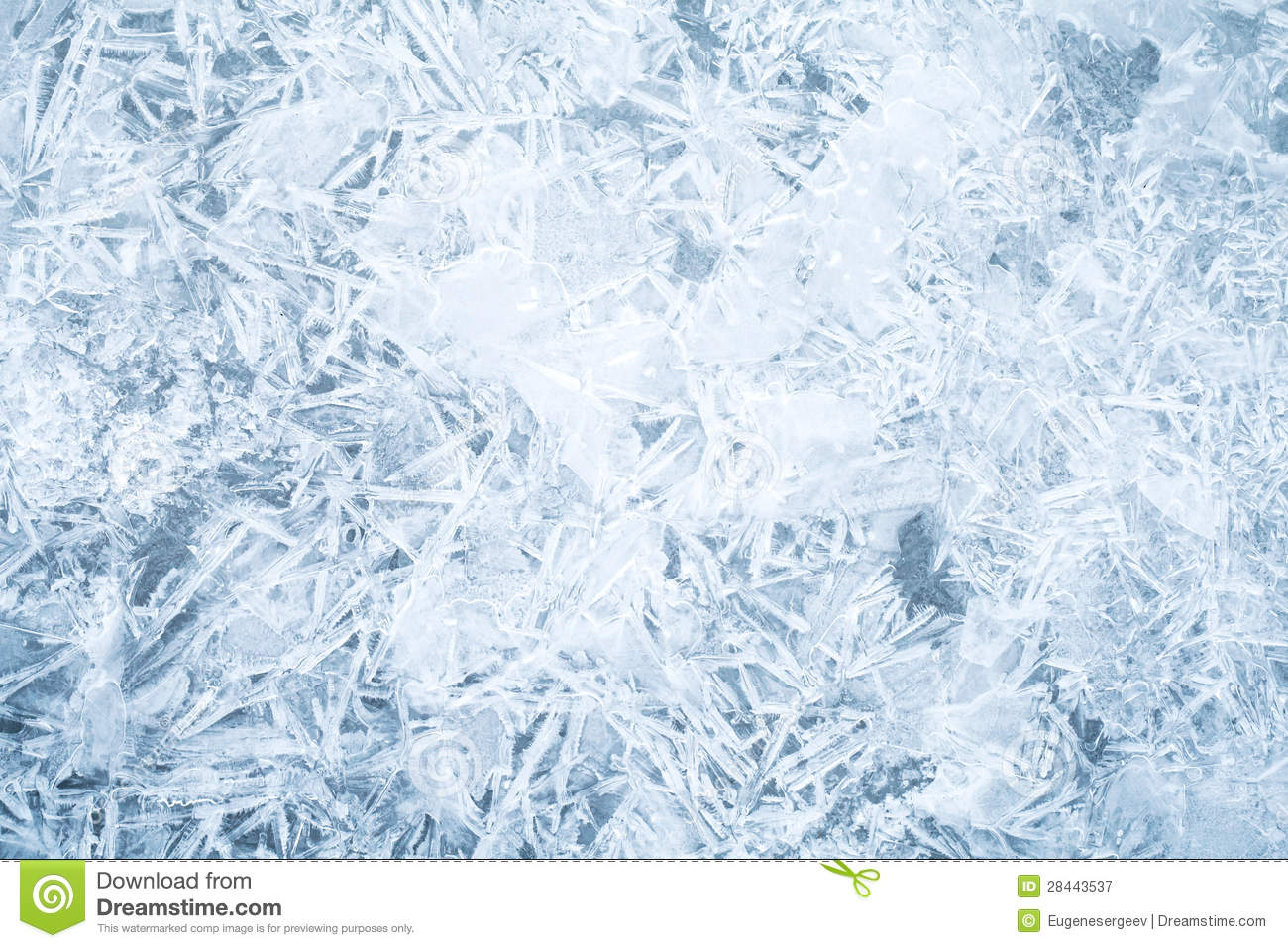 Fresh thin ice background texture