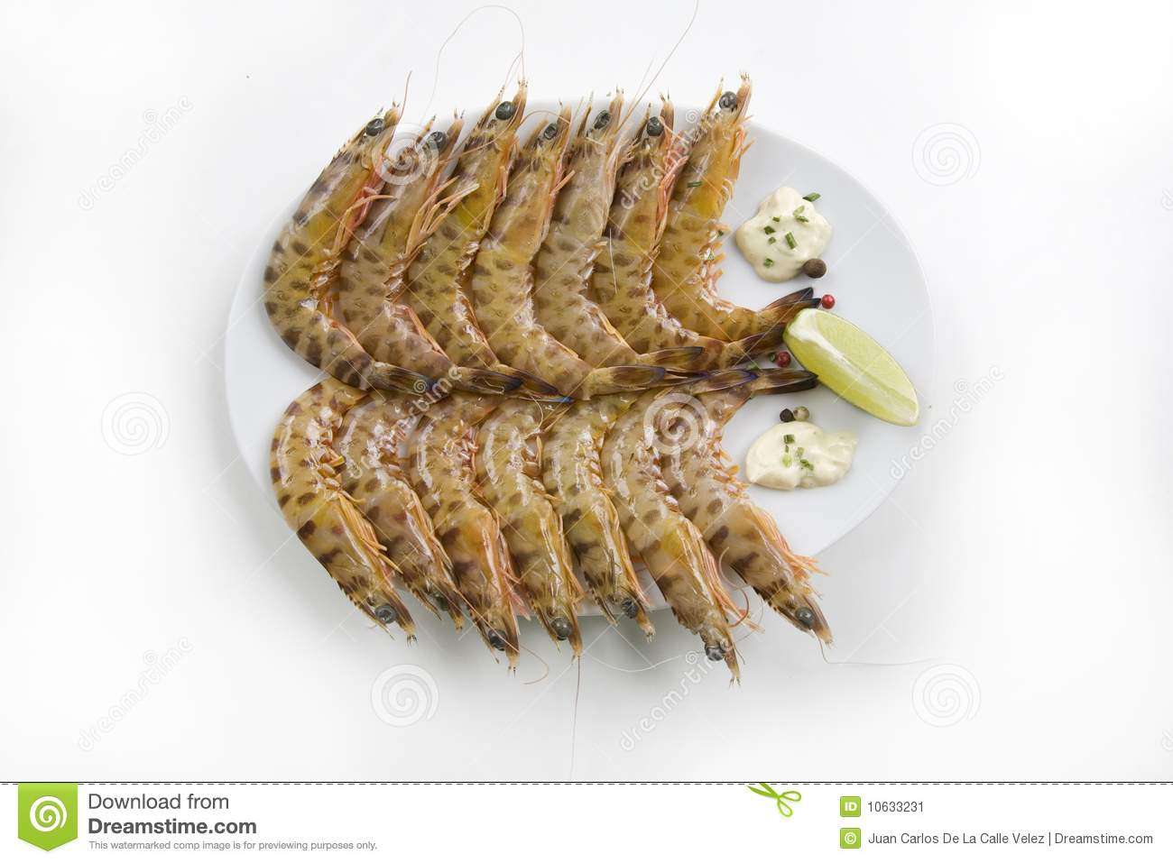 Fresh Tiger Prawns Stock Image - Image: 10633231