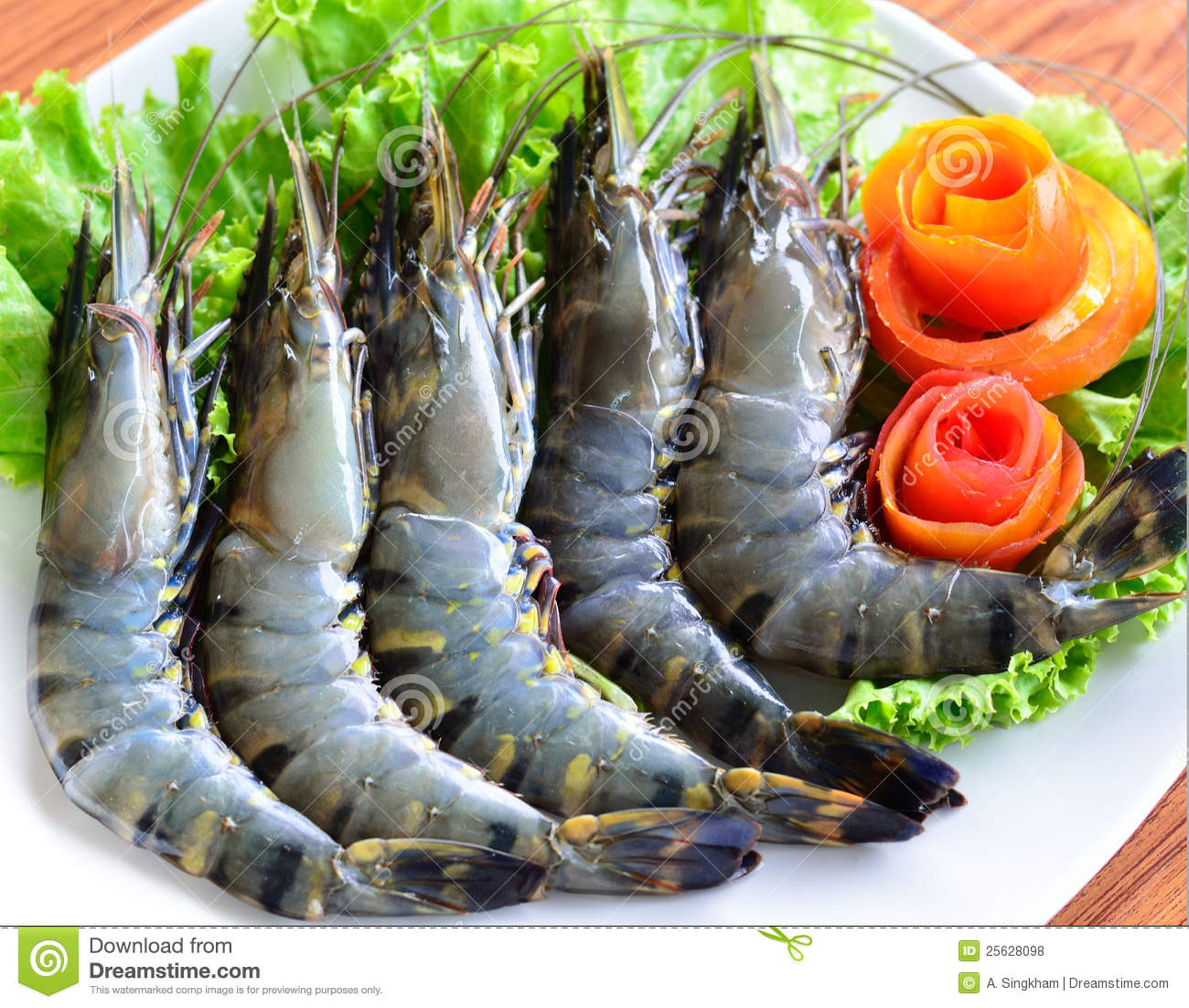 Fresh Tiger Shrimps Royalty Free Stock Photos - Image ...