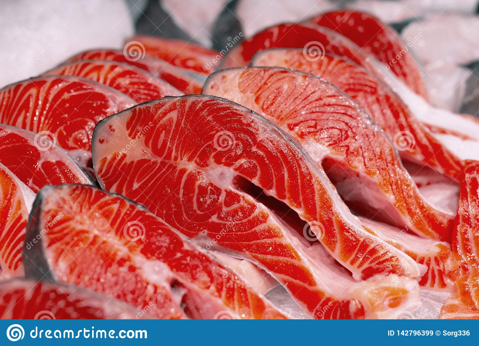 Fresh trout sliced for grilling or barbecue