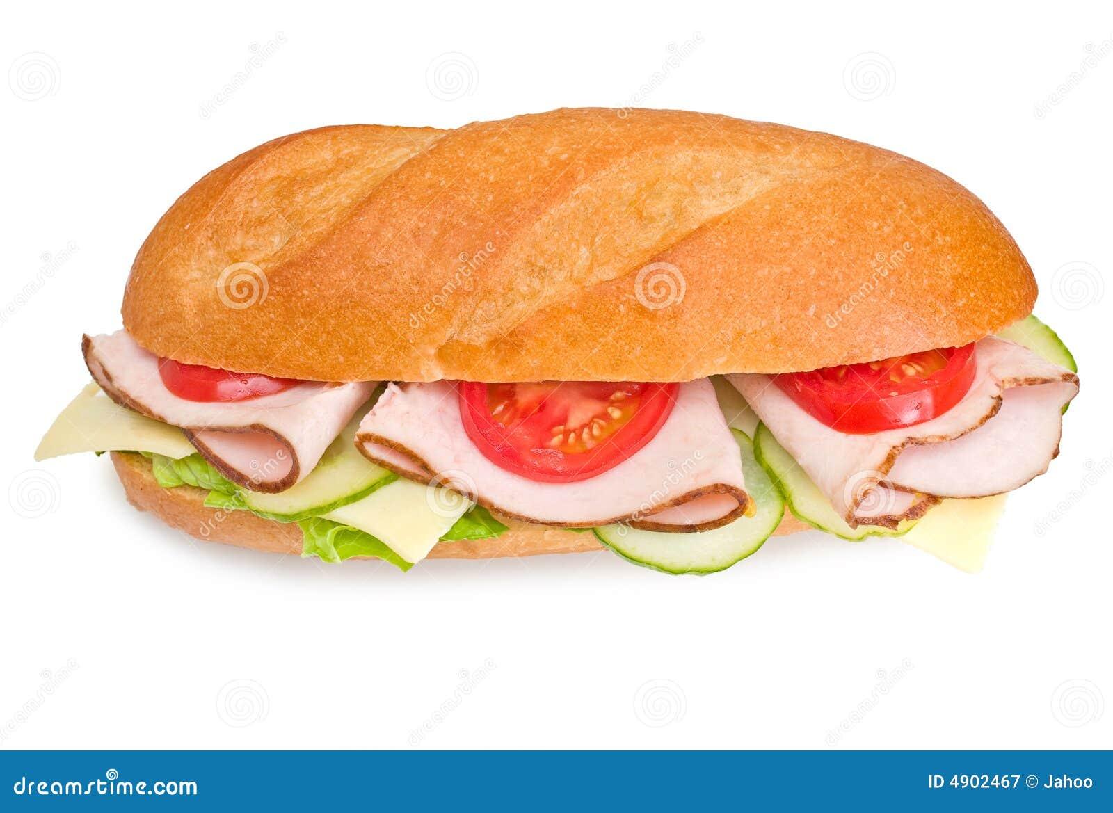 Fresh Turkey Submarine Sandwic Stock Image Image Of Cucumber
